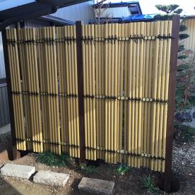 竹を使った塀の実績紹介